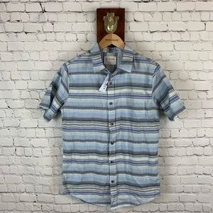 On The Byas Button Up Striped Shirt